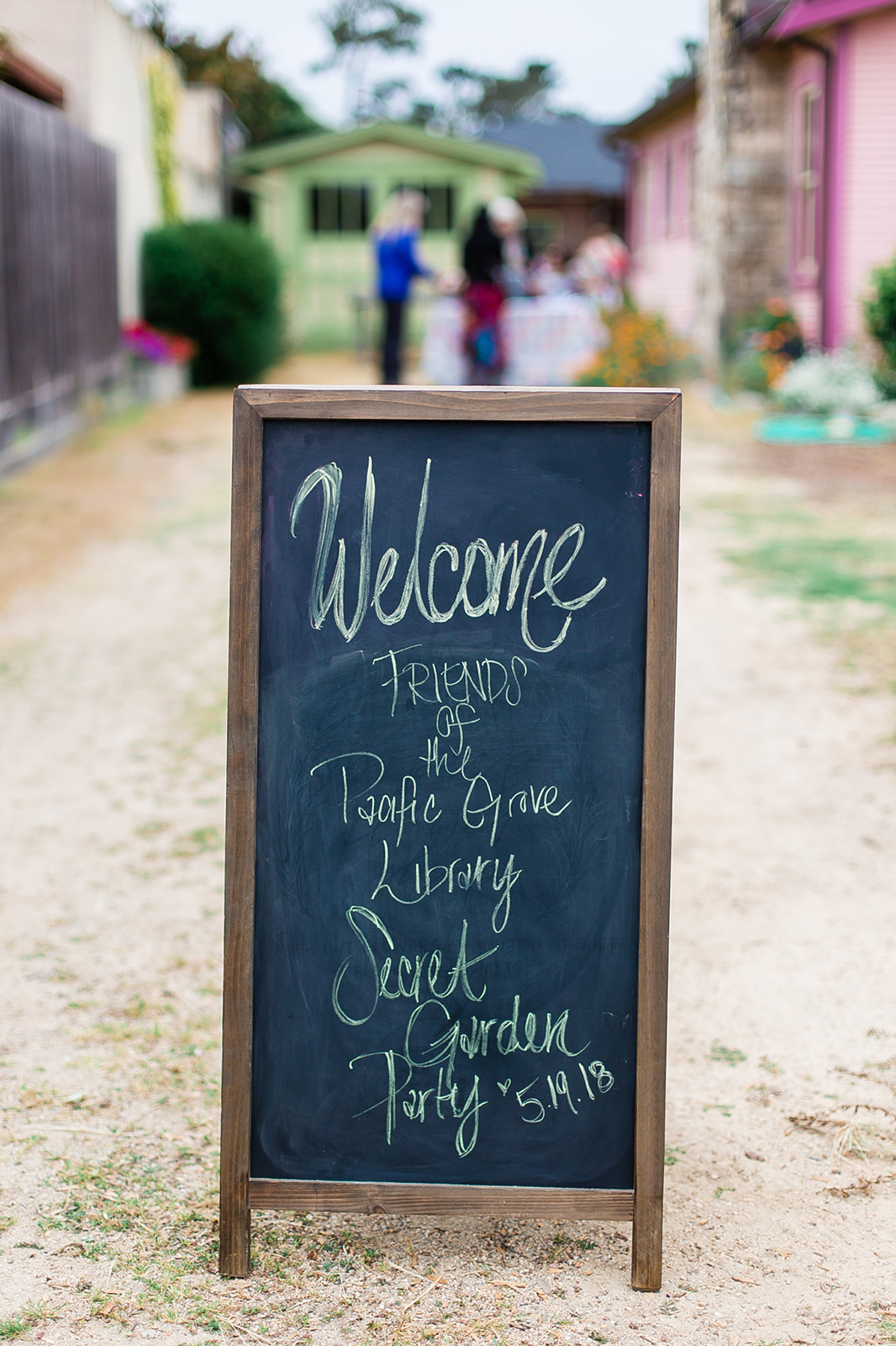 Secret Garden Party Welcome Sign