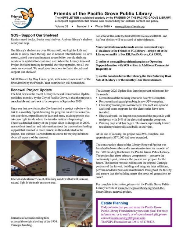 Winter 2020 Newsletter image