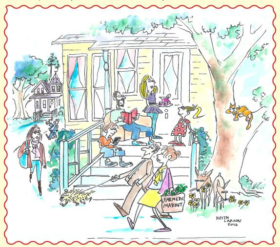 """""""Life in the Grove"""" sketch by Keith Larson"""